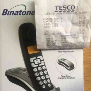 binatone lifestyle digital cordless telephone with answering machine £5 Instore at tesco (wigston, Leicester)