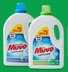 Muvo Bio & Non Bio Wash Liquid 100 Wash - £3.99 @ Home Bargains