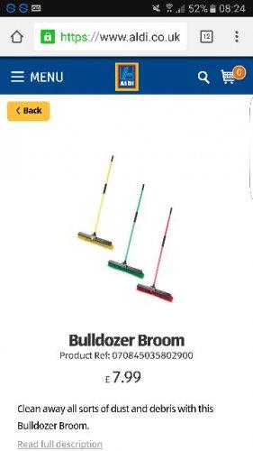 Bulldozer Broom £7.99 @ Aldi