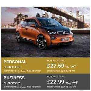 BMW i3 lease deal @ Select Car Leasing