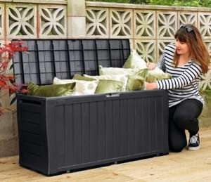 Grey Keter Wood Effect Plastic Garden Storage Box •Capacity 270L £26.74 Argos