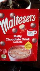 malteaser hot chocolate 5 servings 25p @ Poundstretcher -  westcroft Milton Keynes