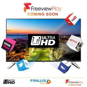 Finlux 43'' Ultra HD 4K Smart LED TV [Model: 43UXE310B-P] £299.99 @ Amazon