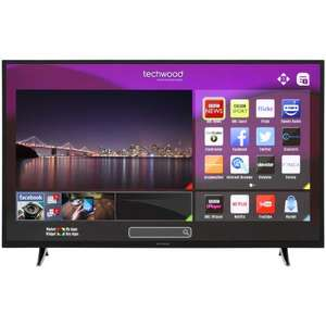 Techwood 55 inch Full HD Smart TV [3xHDMI/USB/Ethernet/WiFi/FreeviewHD] £279 @ AO.com (use code GET20)