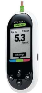 OneTouch Select®Plus blood glucose meter, available absolutely FREE to those who are on insulin therapy.
