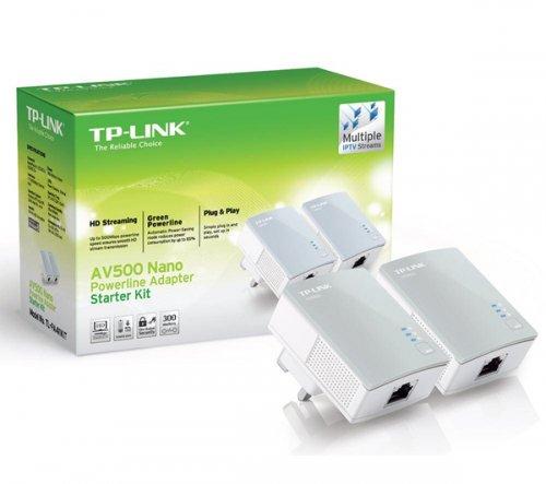 TP-LINK TL-PA411KIT AV500 Powerline Adapter Kit - Twin Pack @ Currys & PC World - £19.99