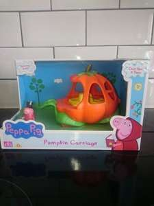 Peppa Pig pumpkin carriage £3.75 at Tesco Warrington, marked as £9 but scanned through at £3.75