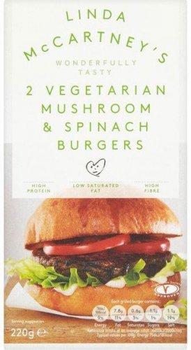 Linda McCartney (Mushroom & Spinach Burgers (2 = 220g) was £1.75 now £1.16 @ Waitrose