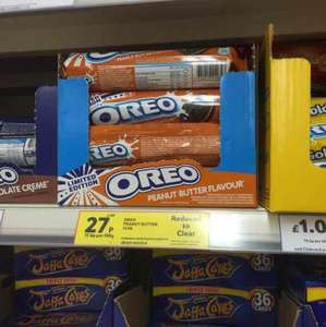 Oreo Peanut Butter Flavour Reduced to 27p in Tesco instore