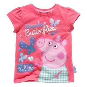 Peppa Pig Girls' Butterfly 100% cotton T-Shirt (18 months- 5 years) Half Price £1.99 @Argos Free C&C