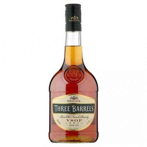 Three Barrels Brandy 70Cl £12 / Malibu White Rum With Coconut 1L £13 @ Tesco