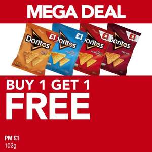Doritos 102g bags - £1 BOGOF @ Premier Stores (includes all 4 flavours)