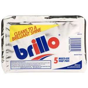 5 Pack Brillo Pads 47p @ Homebase - Free C&C