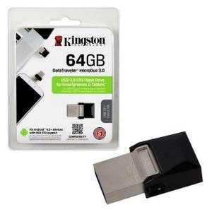 Kingston MicroDuo OTG USB 3.0 Micro Flash Drive Memory Stick for Smartphones and Tablets etc - 32GB £8.49 7dayshop