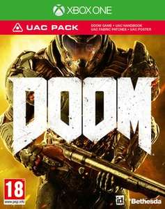 DOOM with UAC pack PS4, Xbox One and PC £24.99 then £22.49 using 10% code at Game (online).