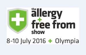Free tickets to The Allergy & Free From show in London Olympia Park (8-10th July)