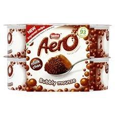 Nestlé 4pk Aero Milk Choc Bubbly Mousse (4 x 59g) 70p @ Iceland