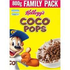 Twin packs (2 X 800g) Kellogg's coco pops £4.50 at Costco (No VAT)