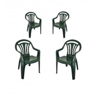 Set of 4 plastic garden chairs £26.89 @ Ryman