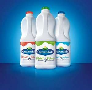 Cravendale Pure Whole / Semi Skimmed / Skimmed Milk (2L) - Only £1 (Rollback Deal) @ Asda...