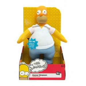 12 inch Talking Homer Simpson 'Plush' Toy £4.99 @ Home Bargains