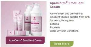 AproDerm Emollient Cream for Eczema/Dry Skin on Amazon now reduced to £6 (Prime)  / £10.75 (non Prime)  Sold by UK Nutri Labs and Fulfilled by Amazon.