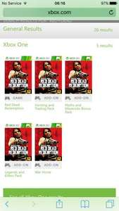 Red Dead Redemption DLC - all multiplayer packs for Xbox 360/One @ Xbox Marketplace