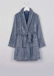 Boys Navy Fleece Dressing Gown age 4-13yrs was £9 now £3 with FREE C+C @ Matalan