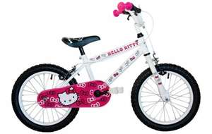 "Hello Kitty 16"" Girls Bike originally £99, then £69.99 now £45 with code + Free Bike Build / C+C @ Halfords"