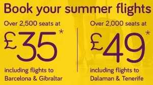Flash Sale at Monarch -  Flights from £35!