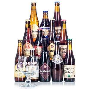 12 bottles Belgian Trappist Ale Mixed Case (plus free glass) from Beer Hawk