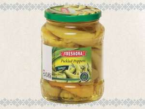 Freshona Pickled Peppers - hot (720g = 260g Drained weight) ONLY 99p @ Lidl