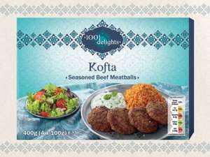 1001 DELIGHTS Seasoned Beef Kofta (4 x 100g) ONLY £2.29 Frozen @ Lidl