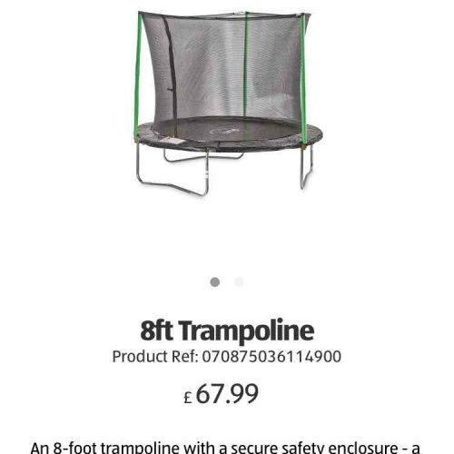 Plum 8ft trampoline £67.99 instore Aldi