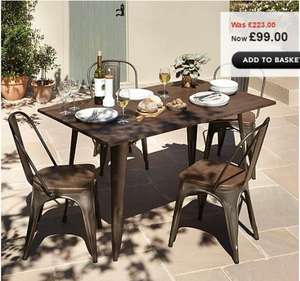 Emilia 5 Piece Dining Set Was £223 Now £99 @ ASDA George