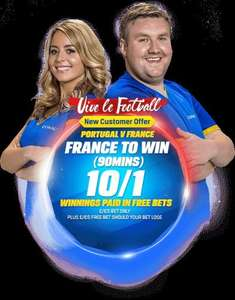 FRANCE to win in 90mins 10/1 odds! @ Coral.co.uk