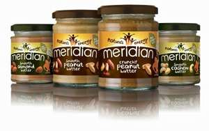 Meridian Natural Smooth / Crunchy Peanut Butter (280g) - £1 @ Tesco from tomorrow...
