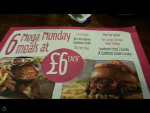Mega Monday meals - large meals £6.00 each (£4.50 with a Gourmet Society card) @ Fayre & Square