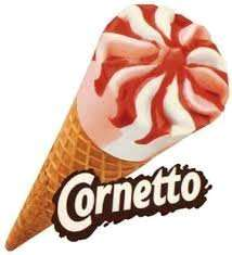 8 full size strawberry cornetto redcar £1 @ Jack Fultons