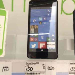Microsoft Lumia 550 and free unlock £50 @ Asda