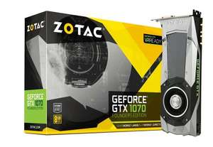 Zotac NVIDIA GeForce GTX 1070 Founders Edition 8GB GDDR5 Graphics Card (Dispatched on 14/07/2016) with 5 Year Warranty £399 delivered from Amazon