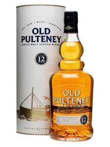 Old Pulteney 12 yr old single malt, currently £21.89 in Booths