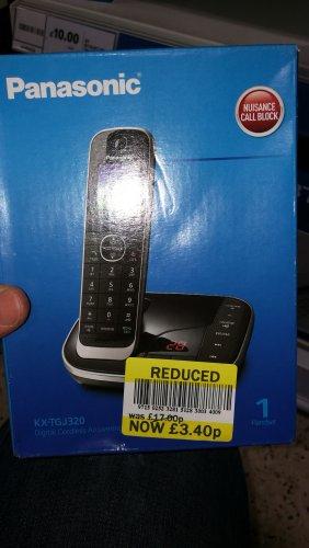 Panasonic KX-TGJ 320EB cordless phone Tesco £3.40