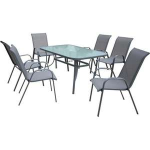Sling Back Garden Furniture Set - 7 Piece £119 @ Homebase