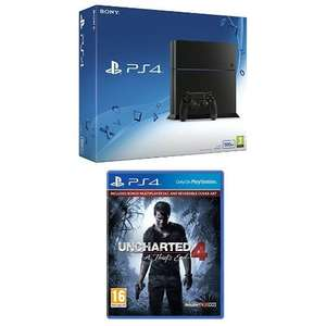 Sony PlayStation 4 Console 500 GB Edition with Uncharted 4 £239.99 Amazon prime