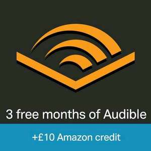 Its Back. Free £10 Amazon Credit When you Sign Up for a 3 Month Audible Trial (New Audible Customers Only) (Prime Only)