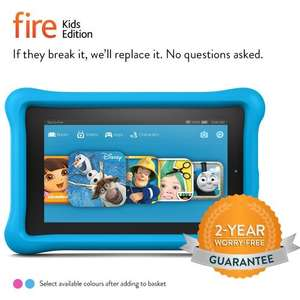 """Prime day deal - Fire Kids Edition Tablet, 7"""" Display, Wi-Fi, 16 GB, Blue Kid-Proof Case £69.99 @ Amazon PRIME MEMBERS ONLY"""