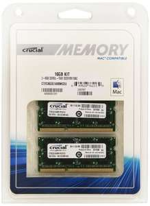 Crucial Mac Compatible 16GB Kit (8GBx2) DDR3 1600 MT/s @ £32.99! @ Amazon - PRIME MEMBERS ONLY