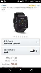 Garmin Vivoactive GPS Smart Watch with Sports Apps £99 @ Amazon [Prime members only]