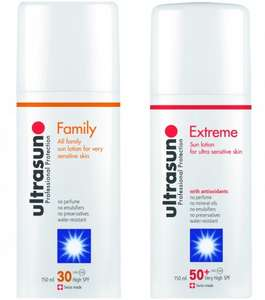 Ultrasun 3 for 2 £11.99 at Superdrug